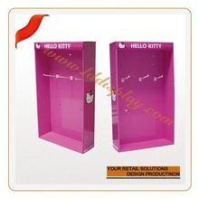 Customize wall acrylic shoes display clear wall mounted acrylic slat wall fashionable eyeglasses display shelf 6131404203