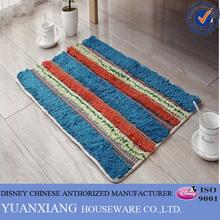 Hot fashion polyester fabric stripe kitchen rugs