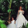 Elegant White mommy and me maxi dress Sweetheart Matching Mother And Daughter Dress Design Long Evening Dress/Gown 2014 Ze-804