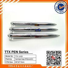 Promotional pen with football team logo, custom logo on promotional thin metal ballpoint pen
