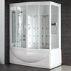 CE cUPC sliding tempered glass door acrylic panel steam bath