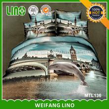 luxury 3d cotton print china duvet cover set/wholesale duvet cover sets
