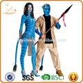 yiwu fábrica preço barato por atacado de natal engraçados fantasias de carnaval fasshion casal trajes cosplay com uma cauda