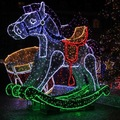 3d modelado de luz led de luz caballo para el ornamento de la navidad