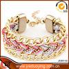 New Products Fashion Colorful Braid Cord Elegant Charming Alloy Bracelets