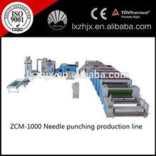 ZCM-1000 needle punching blanket production line, needle punched wadding line