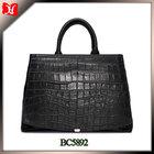 2014 fashion lady handbag pu crocodile leather handbag wholesale china