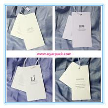 dongguan supplier paper clothing hang tag for garment