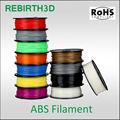 abs الشعيرة 3d الطابعة القلم، 1.75mm 3d الطباعة، 3mm، 1kg/ التخزين المؤقت