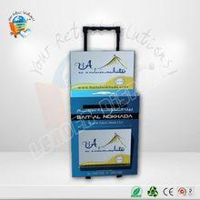 Customize clear acrylic nail polish organizer l shape wall shelf
