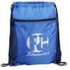 mesh pocket drawstring bag / blue drawstring bag / promotional mesh drawstring bag