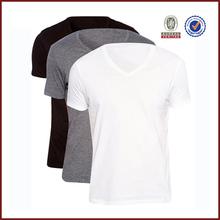 Fashionable mens v neck blank t shirt, premium quality combed cotton t shirt, cheap wholesale mens plain t shirt