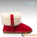 Popular hc-710 ladies' rojo deinvierno la nieve botas de cuero de zapatos