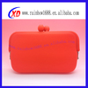 fashion promotional shiny cosmetic bag/silicone cosmetic bag
