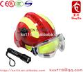 de color rojo con amarillo reflectante de fuego casco de rescate