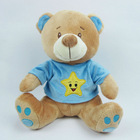 28cm sitting stuffed animals plush toy bear with blue clothes