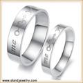 316l anillo de acero inoxidable, usted& me diseño de alianzas de boda para las parejas