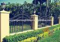 Segurança cerca de ferro forjado para jardins, qualidade nobre