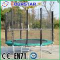 los niños al aire libre gimnasia de primavera baratos mini trampolines y red de seguridad