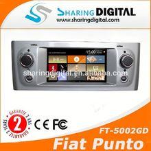 5'' car dvd player sat nav gps navigation for Fiat Grande Punto