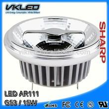 High Luminous led ar111 G53 15W 220V 3000K ceiling lights
