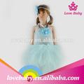 lbe4091282 baratos al por mayor del bebé azul de ganchillo hecho a mano de bebé vestido