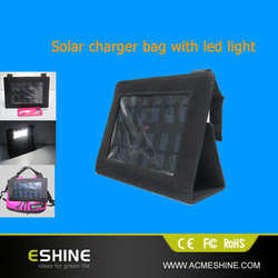 High power 3W 6V Portable outdoor Folding solar charging bag solar panel charger power bank For Mobilephone Power Bank MP3 4 Cam