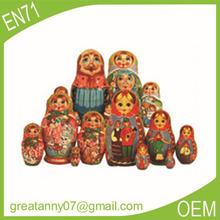 Yiwu wholesale 2015 hot style OEM design family Matryoshka with family style