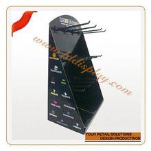 Customize double sides dvd wall display shelf wall mounted basketball display rack