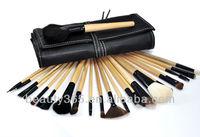 24 PCS professional small makeup brush set With Black Case 956#