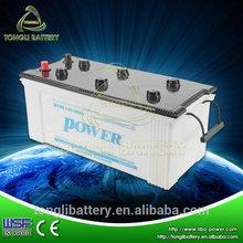 Dry Charged 12v car battery 12v 150ah lead acid Korea battery