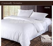 China first choice 3 cm stripe plain bedding set for star hotel