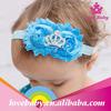 LBE4091294 Infant baby girl cheap flower elastic headband