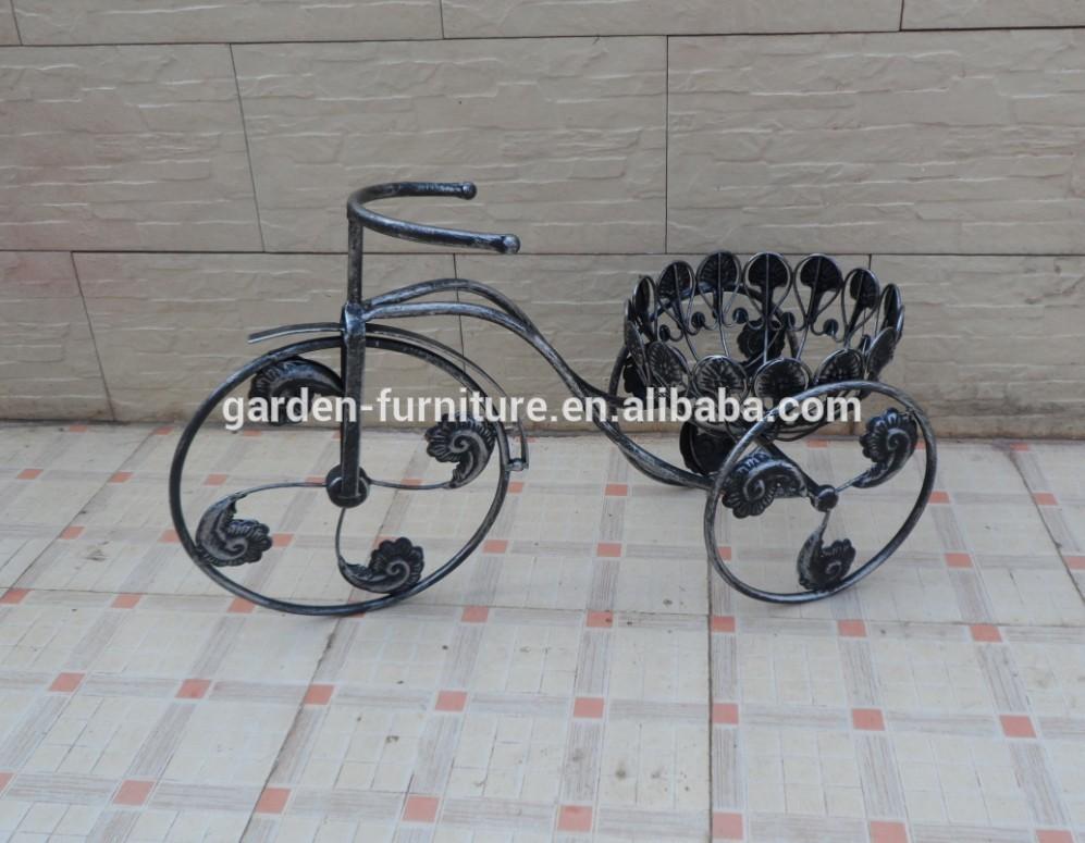 enfeite jardim bicicleta: antiga enfeite de jardim ferro forjado bicicleta para vaso de flores