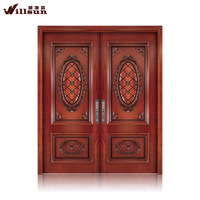 china products two leaves wood door