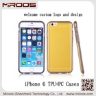 MIROOS china factoy new product durable clear frosted phone case for iphone 6 tpu and pc hybird
