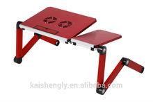 Spacious folding tablet holder office computer desk