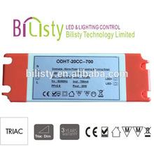 Garantía de tres años Triac dimmable llevó controlador oferta de corriente constante
