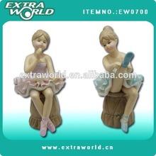 Fashion porcelain ballet figurine crafts