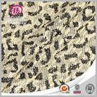 Knitting leopard organic cotton fabric jacquard