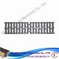Europea fm-g-12670 en1433 estándar de hierro fundido cubierta de zanja de drenaje de la carretera de rejilla de acero gris de hierro de la parrilla