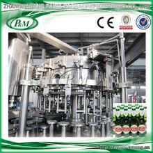 Beer liquid glass bottle filling sealing machine