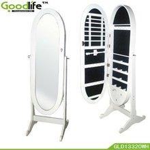 Oval shape wooden makeup mirror corner bedroom dressers from goodlife