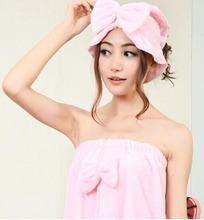 Girls' Sweet bathrobe set 2 piece suit