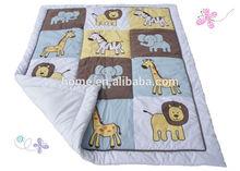 2014 new 100% cotton unique design beautiful applique baby quilt