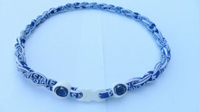 Penn State Nittany Lions College Double Rope Tornado Titanium Sports Necklaces