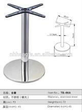 design moderno tavolino in vetro base in acciaio inox