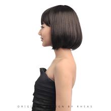 2014 hot sale bobo wigs with bangs human hair
