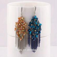 Fashion Chunky Bridal Colorful Beaded Dangle Earring