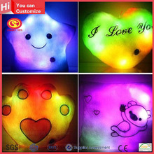 Colorful shining led bright light decorative children pillows